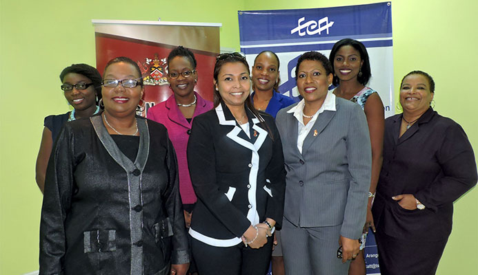 Front L-R: Heather Rodney (HASC Assistant Manager), Suzetta Ali (ECA Chairman), Joycelyn Francois-Opadeyi (ECA CEO) together with members of the HASC team